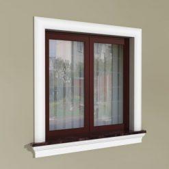 Fensterumrandung Außen – Rustikales Set ZR1