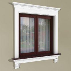 Fensterumrandung Außen – Rustikales Set ZR4