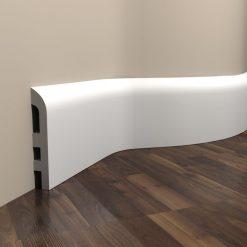 Fußbodenleiste weiß elastisch MD355F